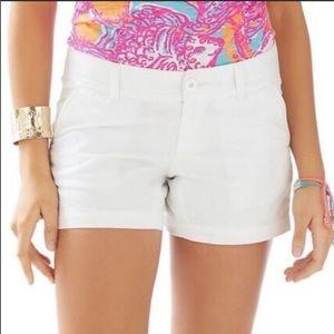 Lilly Pulitzer solid white Callahan shorts 00